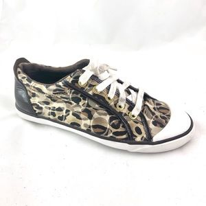 COACH Barrett Leopard Print Lace Up Shoe - Sz 8B